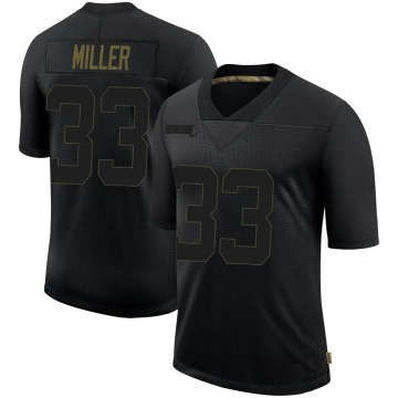 Youth Nike Seattle Seahawks Chris Miller Black 2020 Salute To Service Jersey - Limited