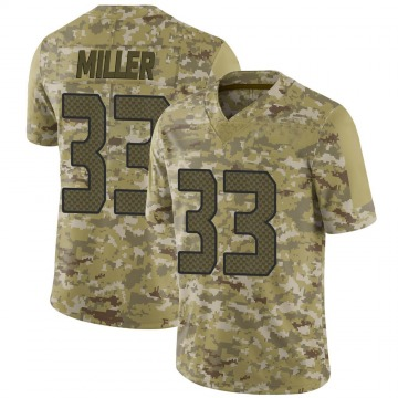 Youth Nike Seattle Seahawks Chris Miller Camo 2018 Salute to Service Jersey - Limited