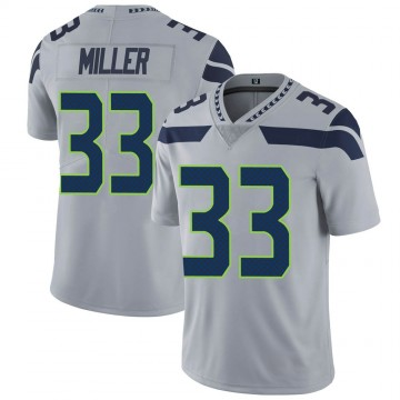 Youth Nike Seattle Seahawks Chris Miller Gray Alternate Vapor Untouchable Jersey - Limited