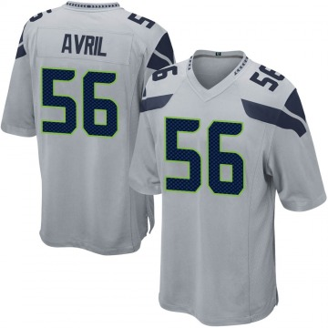Youth Nike Seattle Seahawks Cliff Avril Gray Alternate Jersey - Game