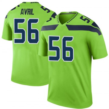 Youth Nike Seattle Seahawks Cliff Avril Green Color Rush Neon Jersey - Legend