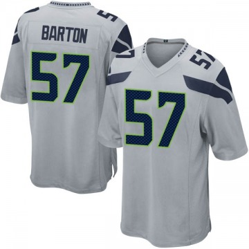 Youth Nike Seattle Seahawks Cody Barton Gray Alternate Jersey - Game