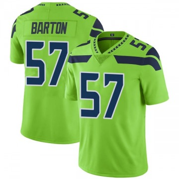 Youth Nike Seattle Seahawks Cody Barton Green Color Rush Neon Jersey - Limited