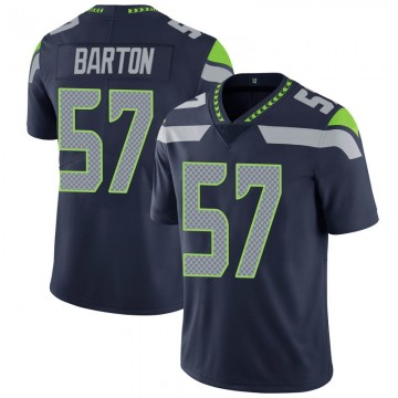 Youth Nike Seattle Seahawks Cody Barton Navy 100th Vapor Jersey - Limited