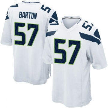 Youth Nike Seattle Seahawks Cody Barton White Jersey - Game