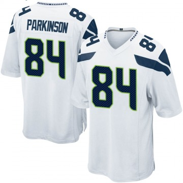 Youth Nike Seattle Seahawks Colby Parkinson White Jersey - Game
