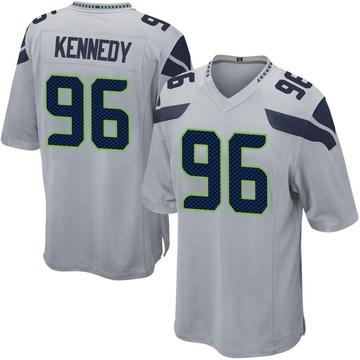 Youth Nike Seattle Seahawks Cortez Kennedy Gray Alternate Jersey - Game