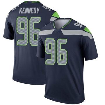Youth Nike Seattle Seahawks Cortez Kennedy Navy Jersey - Legend