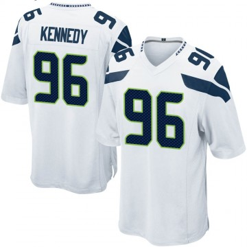 Youth Nike Seattle Seahawks Cortez Kennedy White Jersey - Game