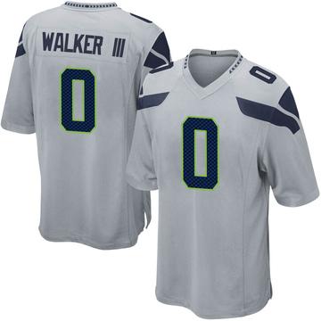 Youth Nike Seattle Seahawks D'Andre Walker Gray Alternate Jersey - Game