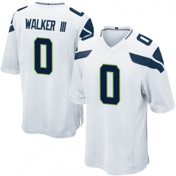 Youth Nike Seattle Seahawks D'Andre Walker White Jersey - Game
