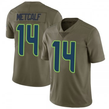 Youth Nike Seattle Seahawks DK Metcalf Green 2017 Salute to Service Jersey - Limited