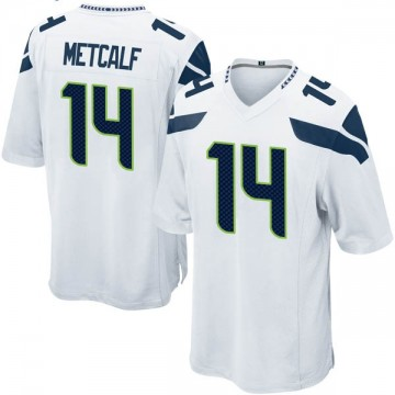 Youth Nike Seattle Seahawks DK Metcalf White Jersey - Game