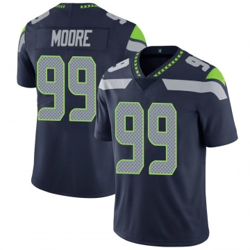 Youth Nike Seattle Seahawks Damontre' Moore Navy 100th Vapor Jersey - Limited