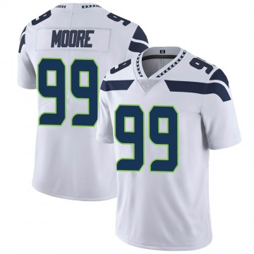 Youth Nike Seattle Seahawks Damontre' Moore White Vapor Untouchable Jersey - Limited
