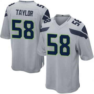 Youth Nike Seattle Seahawks Darrell Taylor Gray Alternate Jersey - Game