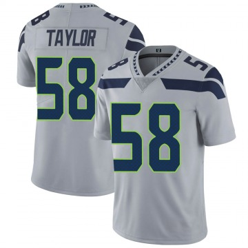 Youth Nike Seattle Seahawks Darrell Taylor Gray Alternate Vapor Untouchable Jersey - Limited