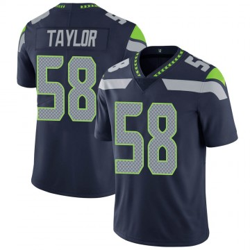 Youth Nike Seattle Seahawks Darrell Taylor Navy Team Color Vapor Untouchable Jersey - Limited
