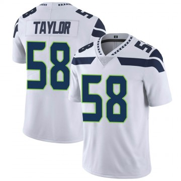 Youth Nike Seattle Seahawks Darrell Taylor White Vapor Untouchable Jersey - Limited
