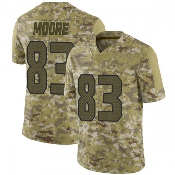 Youth Nike Seattle Seahawks David Moore Camo 2018 Salute to Service Jersey - Limited