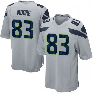 Youth Nike Seattle Seahawks David Moore Gray Alternate Jersey - Game