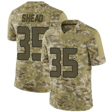 Youth Nike Seattle Seahawks DeShawn Shead Camo 2018 Salute to Service Jersey - Limited