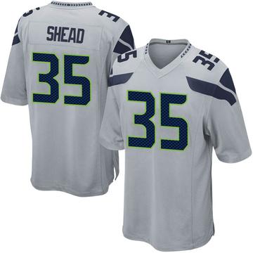Youth Nike Seattle Seahawks DeShawn Shead Gray Alternate Jersey - Game