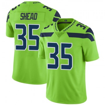 Youth Nike Seattle Seahawks DeShawn Shead Green Color Rush Neon Jersey - Limited