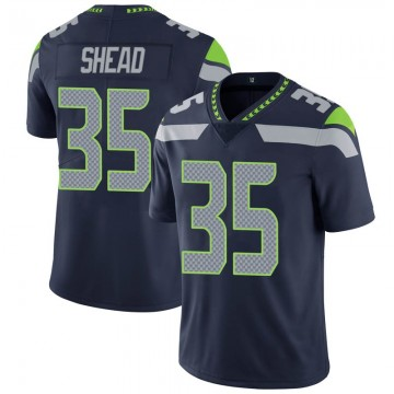 Youth Nike Seattle Seahawks DeShawn Shead Navy 100th Vapor Jersey - Limited