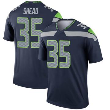 Youth Nike Seattle Seahawks DeShawn Shead Navy Jersey - Legend