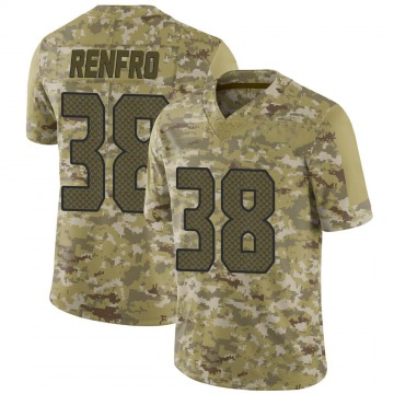 Youth Nike Seattle Seahawks Debione Renfro Camo 2018 Salute to Service Jersey - Limited