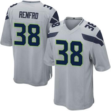 Youth Nike Seattle Seahawks Debione Renfro Gray Alternate Jersey - Game
