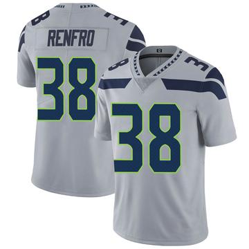 Youth Nike Seattle Seahawks Debione Renfro Gray Alternate Vapor Untouchable Jersey - Limited