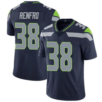 Youth Nike Seattle Seahawks Debione Renfro Navy 100th Vapor Jersey - Limited