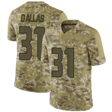 Youth Nike Seattle Seahawks DeeJay Dallas Camo 2018 Salute to Service Jersey - Limited