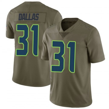 Youth Nike Seattle Seahawks DeeJay Dallas Green 2017 Salute to Service Jersey - Limited