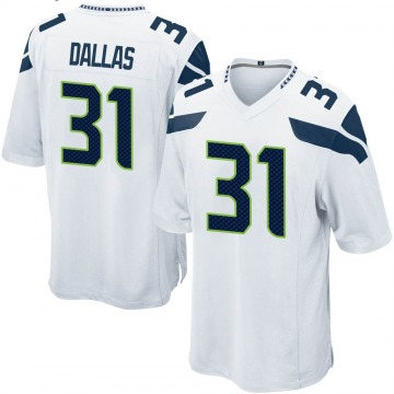 Youth Nike Seattle Seahawks DeeJay Dallas White Jersey - Game