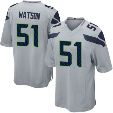 Youth Nike Seattle Seahawks Dekoda Watson Gray Alternate Jersey - Game