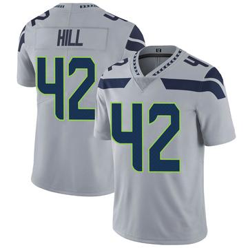 Youth Nike Seattle Seahawks Delano Hill Gray Alternate Vapor Untouchable Jersey - Limited