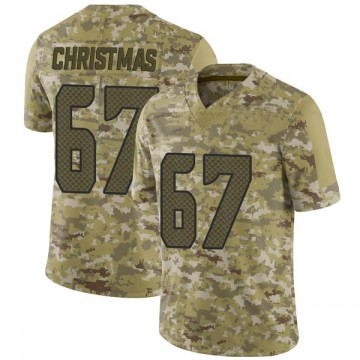 Youth Nike Seattle Seahawks Demarcus Christmas Camo 2018 Salute to Service Jersey - Limited