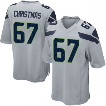 Youth Nike Seattle Seahawks Demarcus Christmas Gray Alternate Jersey - Game