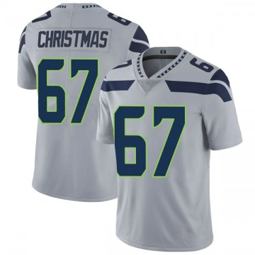 Youth Nike Seattle Seahawks Demarcus Christmas Gray Alternate Vapor Untouchable Jersey - Limited