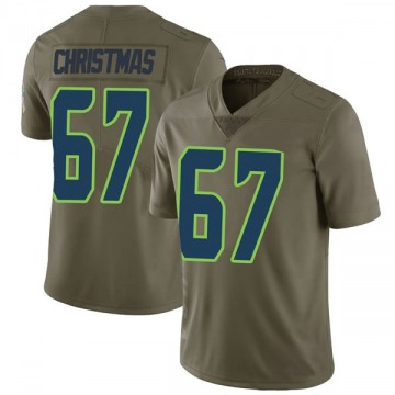 Youth Nike Seattle Seahawks Demarcus Christmas Green 2017 Salute to Service Jersey - Limited