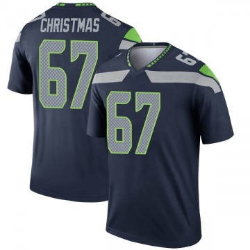 Youth Nike Seattle Seahawks Demarcus Christmas Navy Jersey - Legend