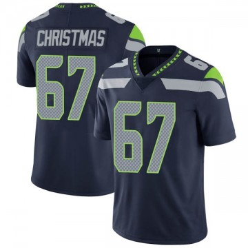 Youth Nike Seattle Seahawks Demarcus Christmas Navy Team Color Vapor Untouchable Jersey - Limited