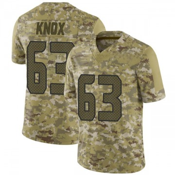 Youth Nike Seattle Seahawks Demetrius Knox Camo 2018 Salute to Service Jersey - Limited
