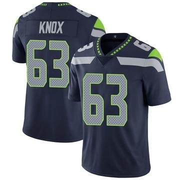 Youth Nike Seattle Seahawks Demetrius Knox Navy 100th Vapor Jersey - Limited