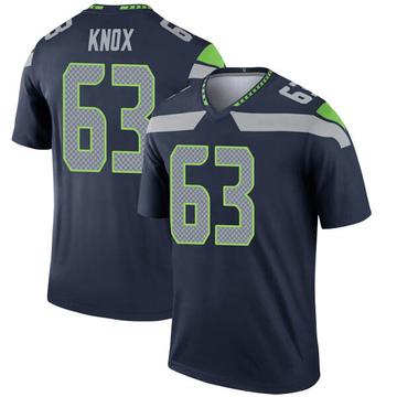 Youth Nike Seattle Seahawks Demetrius Knox Navy Jersey - Legend
