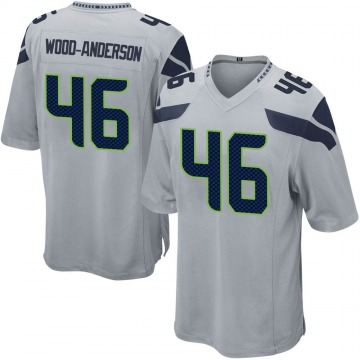 Youth Nike Seattle Seahawks Dominick Wood-Anderson Gray Alternate Jersey - Game