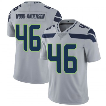 Youth Nike Seattle Seahawks Dominick Wood-Anderson Gray Alternate Vapor Untouchable Jersey - Limited
